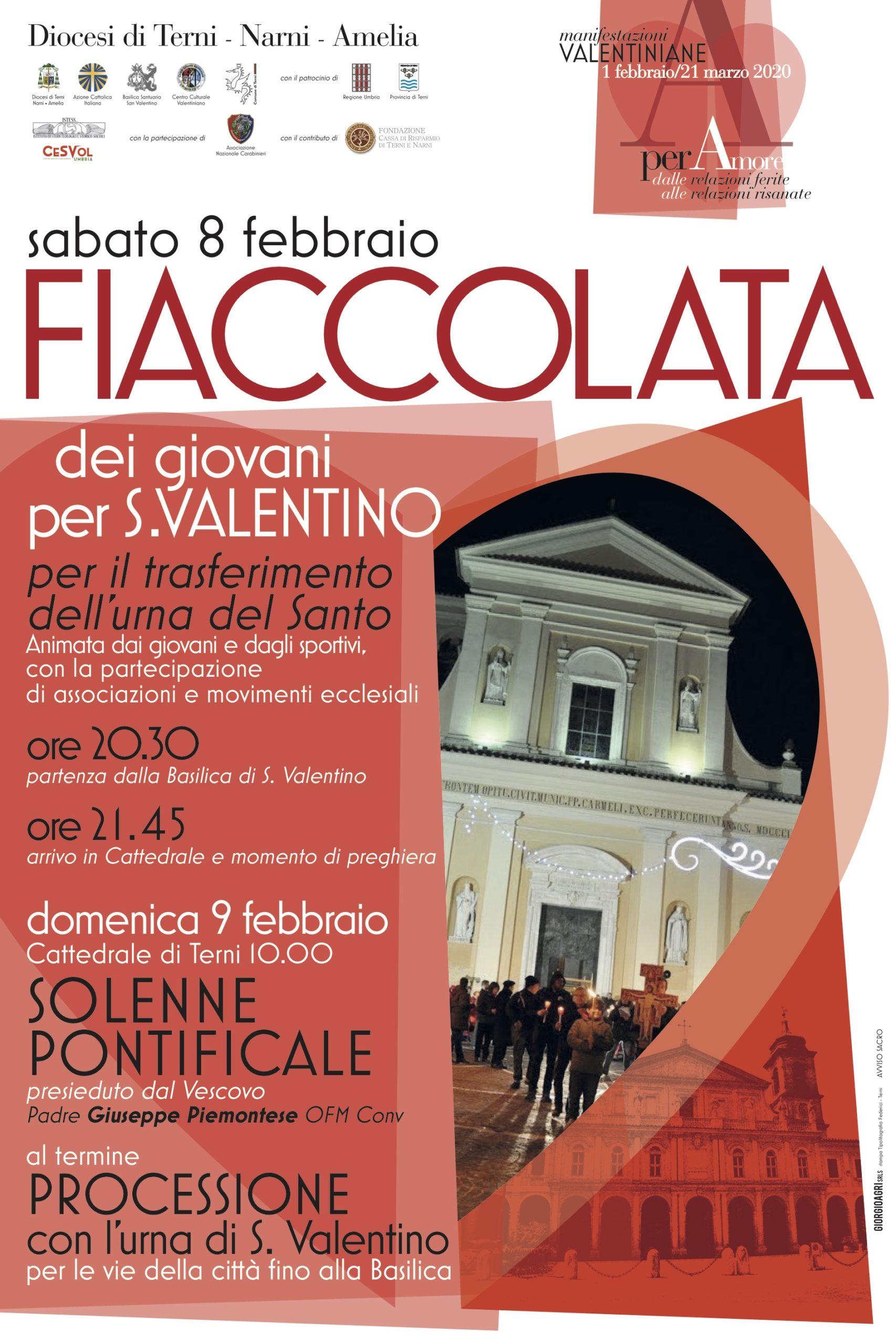 fiaccolata s. valentino 2020